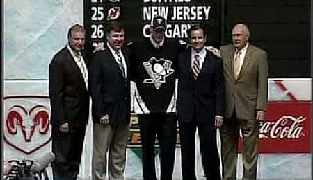 The Pittsburgh Penguins opted to take a forward, Jordan Staal, in the NHL Draft.