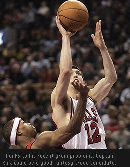 Chicago Bulls point guard Kirk Hinrich and Zach Randolph for Andre Iguodala and Mehmet Okur? Do the deal!