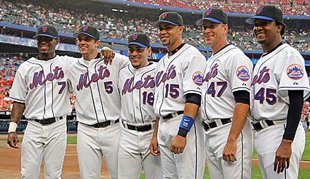 The New York Mets boasted six All-Stars in 2006: shortstop Jose Reyes, third baseman David Wright, catcher Paul Lo Duca, centrefielder Carlos Beltran and starting pitchers Tom Glavine and Pedro Martinez.