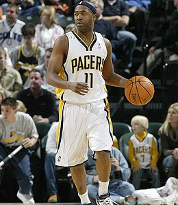 Indiana Pacers point guard Jamaal Tinsley has been mysteriously dumped in one league.