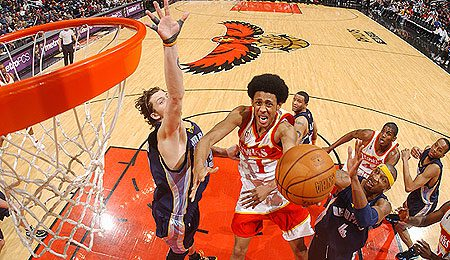 Atlanta Hawks swingman Josh Childress had his best night of the year.