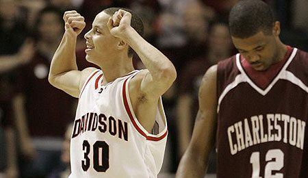 Davidson Wildcats guard Stephen Curry is stoked about going to the Dance.