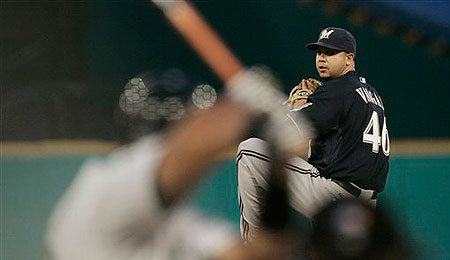 Milwaukee Brewers starting pitcher Claudio Vargas pitched very well on Tuesday.