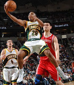 Mike Wilks is the only point guard left standing for the Seattle Sonics.