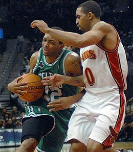 Atlanta Hawks guard Salim Stoudamire is just about done now because of his ankle injury.