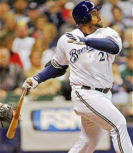 Milwaukee Brewers first baseman Prince Fielder is enjoying a breakthrough year.