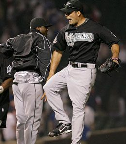 Florida Marlins closer Kevin Gregg will keep the job for now.
