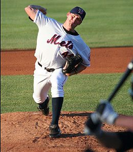 The New York Mets are being patient with pitching prospect Philip Humber.
