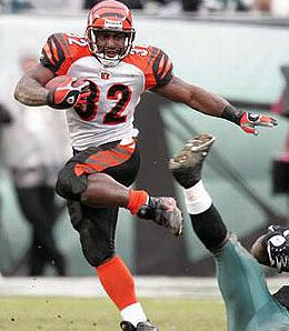 Cincinnati Bengals running back Rudi Johnson was taken fifth overall.