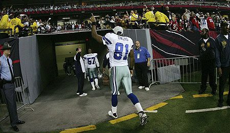 Terrell Owens love playing the Giants.