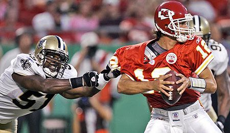 Brodie Croyle gets to feast on the Lions this week.