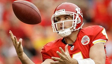 Tyler Thigpen will no longer be at the helm for the Kansas City Chiefs.