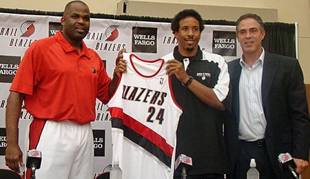 Andre Miller is now running the offense for the Portland Trail Blazers.