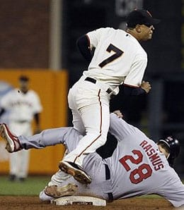 Emmanuel Burriss had a rough year for the San Francisco Giants.