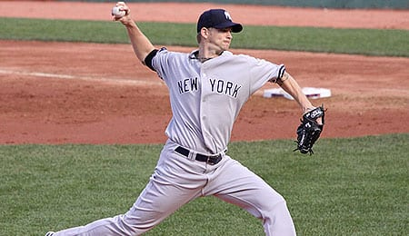 A.J. Burnett had mixed results during his first season with the New York Yankees.