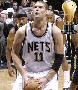 Brook Lopez had a brilliant rookie season for the New Jersey Nets.