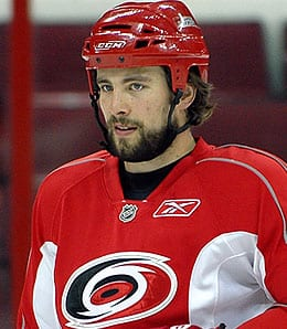 Tuomo Ruutu is getting it done for the Carolina Hurricanes.