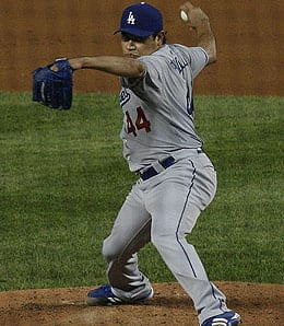 Vicente Padilla is performing well lately for the Los Angeles Dodgers.