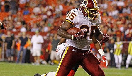 Keiland Williams is dealing with an ankle issue for the Washington Redskins.