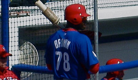 Domonic Brown is back with the Philadelphia Phillies.