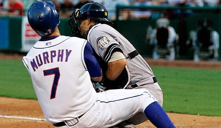David Murphy is taking advantage of injuries for the Texas Rangers.