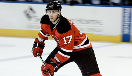 Adam Henrique is a player on the rise for the New Jersey Devils.