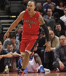 Jerryd Bayless has moved back into the starting lineup for the Toronto Raptors.