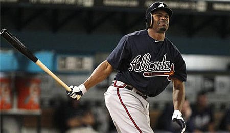 Michael Bourn will burn up the basepaths for the Atlanta Braves.