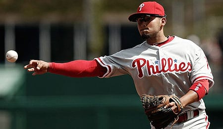 Freddy Galvis could take over second base for the Philadelphia Phillies.