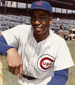 Ernie Banks never saw the playoffs for the Chicago Cubs.
