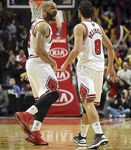 Marco Belinelli is shooting very well for the Chicago Bulls.