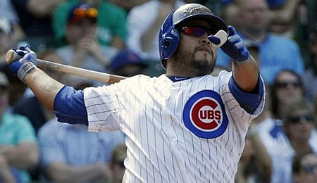Dioner Navarro went hog wild for the Chicago Cubs.