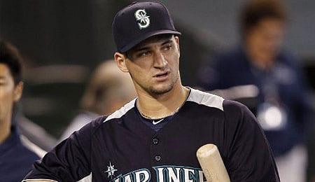 Mike Zunino has been brought up by the Seattle Mariners.
