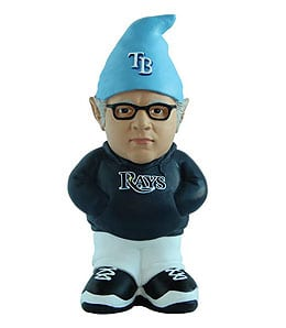 Joe Maddon has been immortalized as a gnome by the Tampa Bay Rays.