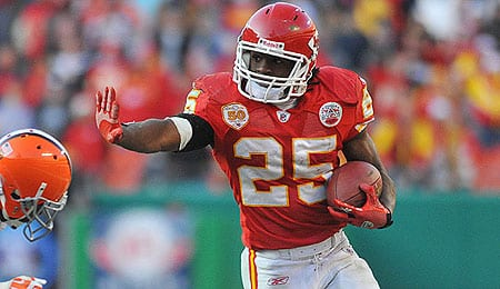 Jamaal Charles is rising for the Kansas City Chiefs.