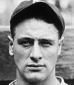 Lou Gehrig is the only New York Yankees player with a four-homer game.