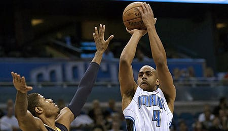 Arron Afflalo is lighting it up for the Orlando Magic.