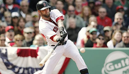 Mike Napoli came up big for the Boston Red Sox.