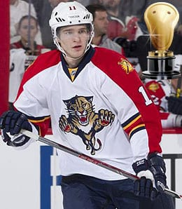 Jonathan Huberdeau enjoyed a fine debut for the Florida Panthers.