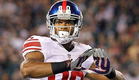 Victor Cruz has had a tough time finding the end zone for the New York Giants.