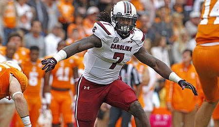 Jadeveon Clowney is a pass rusher supreme for the South Carolina Gamecocks.