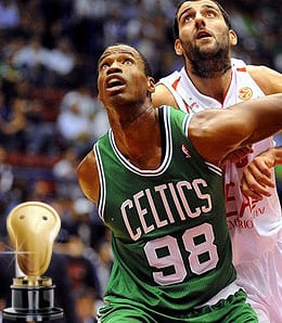 Jason Collins played briefly with the Boston Celtics last season.