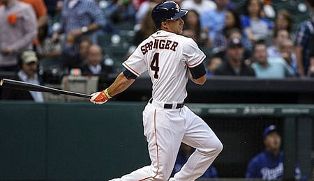 George Springer has been recalled by the Houston Astros.