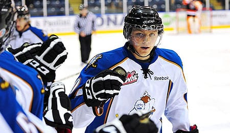 Sam Reinhart has outstanding offensive skills for the Kootenay Ice.