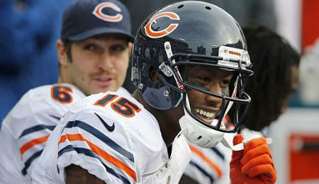 Brandon Marshall had a career high in TDs for the Chicago Bears last year.
