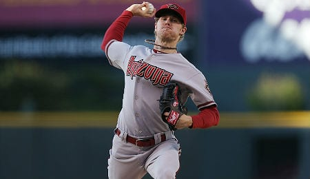 Chase Anderson isn't pitching like a rookie for the Arizona Diamondbacks.