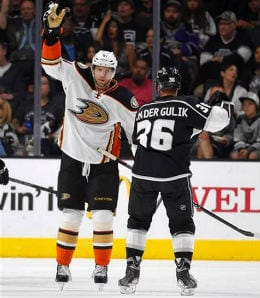 Dany Heatley hopes to bring his goal scoring touch to the Anaheim Ducks.