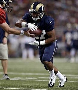 Tre Mason enjoyed a breakout game for the St. Louis Rams.
