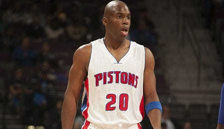 Jodie Meeks is hitting treys for the Detroit Pistons.