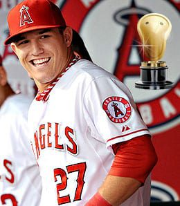 Mike Trout bashed his way to some hardware for the Los Angeles Angels.